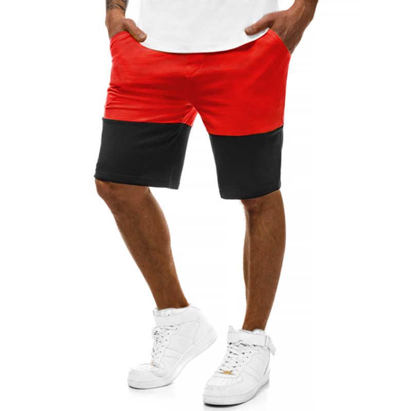 Ostatni popularne letnie na co dzień spodenki męskie w dużych rozmiarach od 2019 są kolorowe Patchwork Jogger i hip-hop człowiek bermudy spodenki treningowe