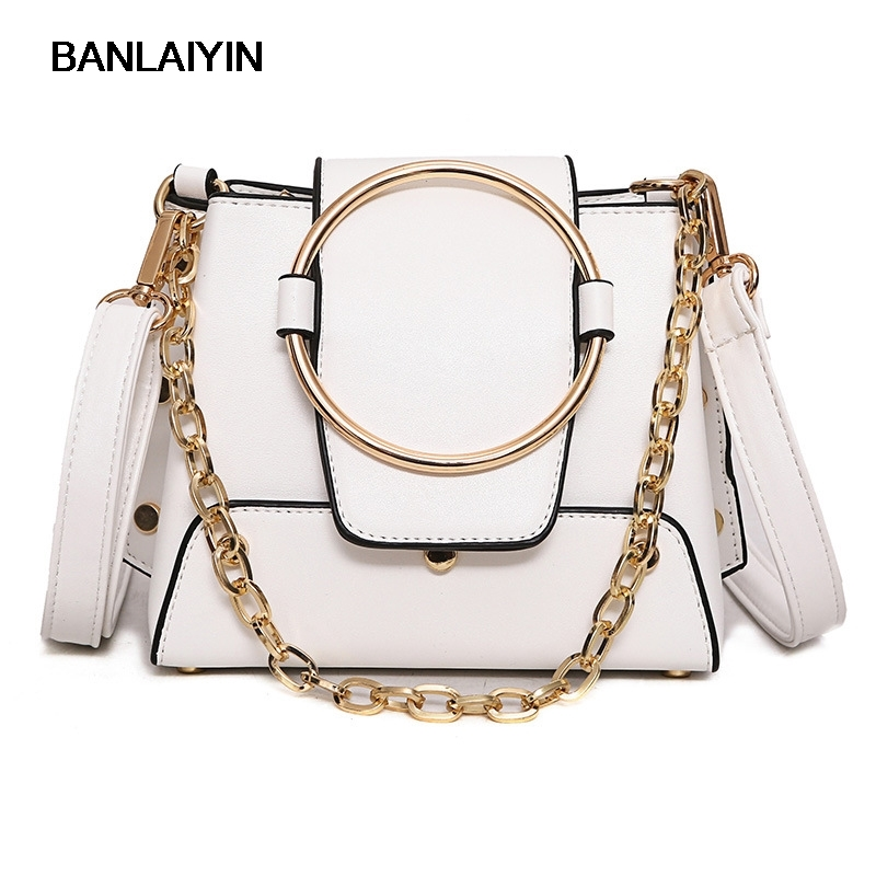 8f2f96b2af3e Famous Brand Spring New Fashion Women Crossbody Bags Female Shoulder Bag  Metal Ring Handbag Ladies Small Messenger Bags .