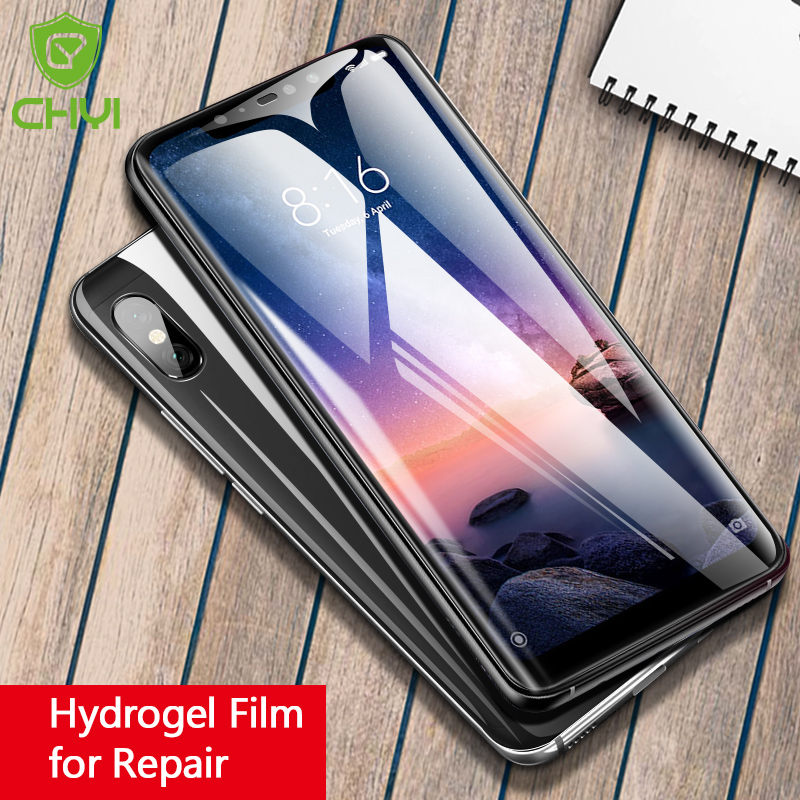 CHYI Hydrogel Film For Xiaomi Redmi Note 7 8 Pro Screen Protector  Soft Silicon Protective Film For Redmi Note 7 8 Not Glass