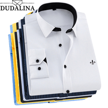 8fb414833 DUDALINA 2019 Camisa Dos Homens de Manga Comprida Camisa Masculina Sociais  Clássicas Camisas Camisa Formal do