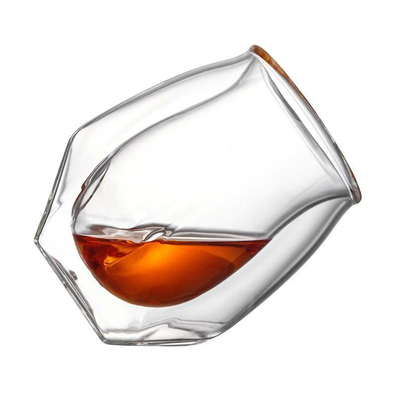 4 Pcs Lot Britain Glen Norlan Whisky Rock Glass Double Deck Whiskey Wine Cup XO Chivas