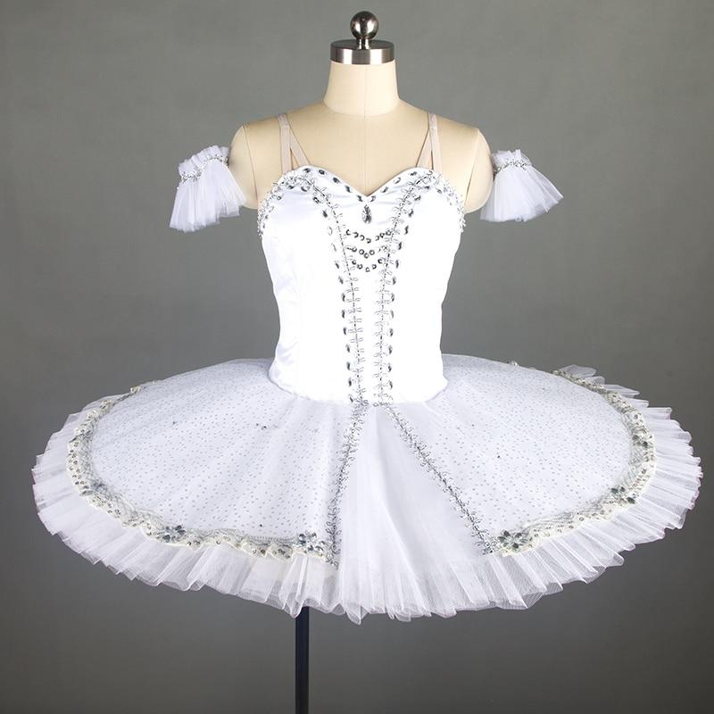 Stunning professional ballet dance costume tutu women & girl stage white ballet tutu ballerina dance costume tutu pancake tutu