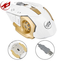 Practical Metal Iron Mouse 1200 3200 Adjustable DPI 1 8m USB Wired Optical Gaming Mouse 6