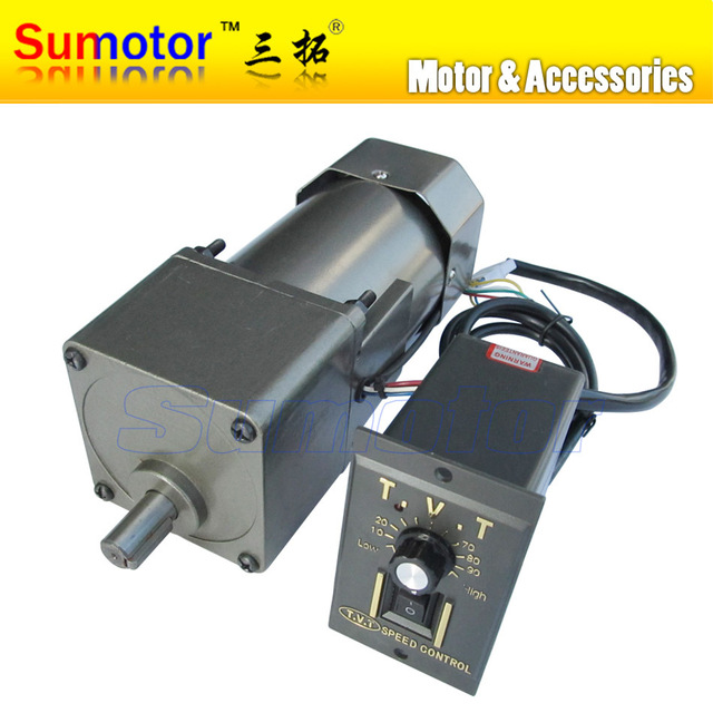 90w ac 220 240v 50 60hz low speed electric geared reducer for 90 volt dc motor controller