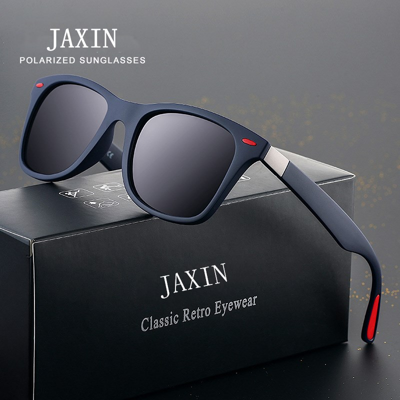 JAXIN Clássico Polarized Quadrados Óculos De Sol Dos Homens Retro Preto Selvagem Ms. Óculos de Sol de Design Da Marca Viagem Driving Eyewear UV400 okulary