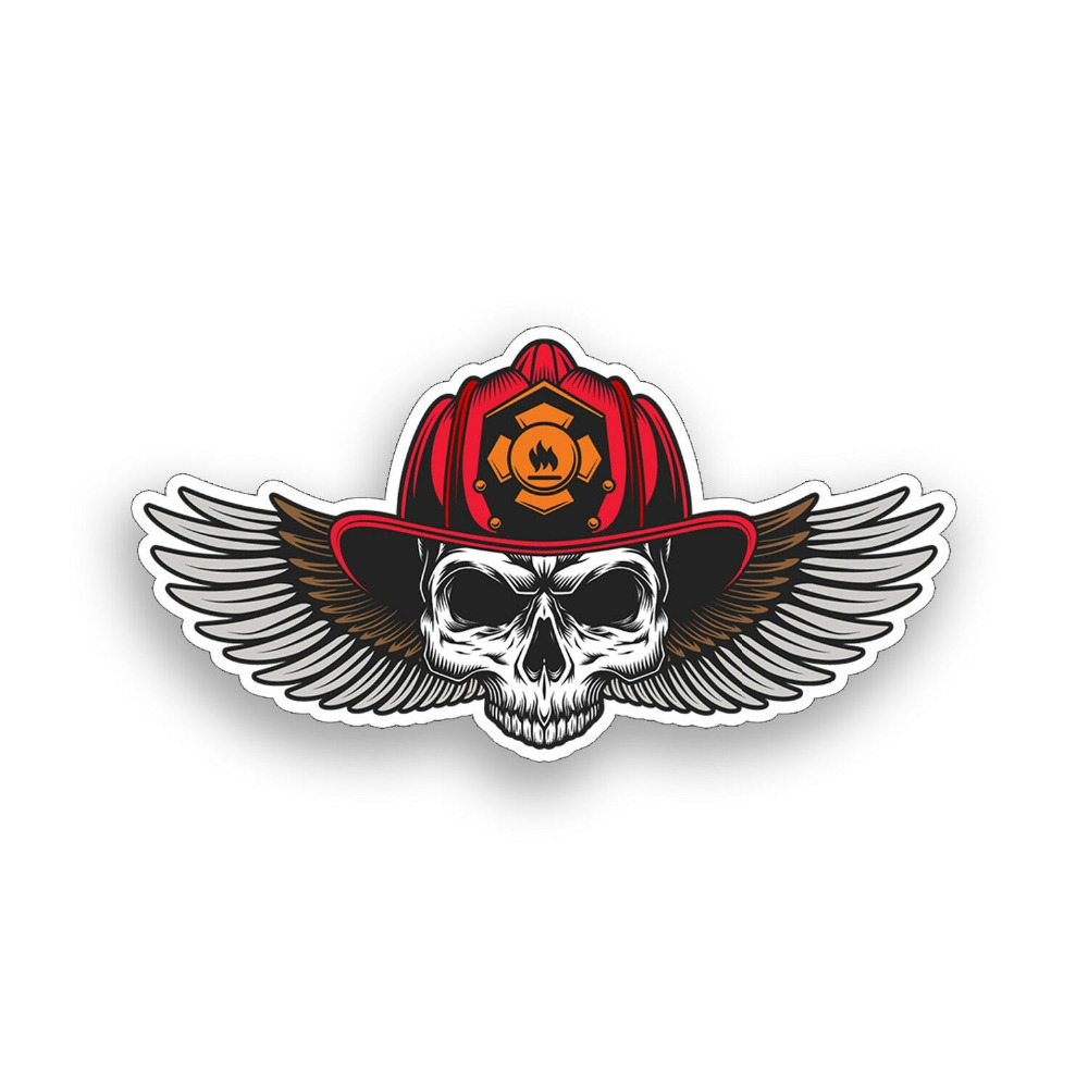 Langru Fire Fighter Skull Vinyl Decal Car Sticker Helmet Axe Funny Car-styling Decoration Jdm Back To Search Resultsautomobiles & Motorcycles Exterior Accessories