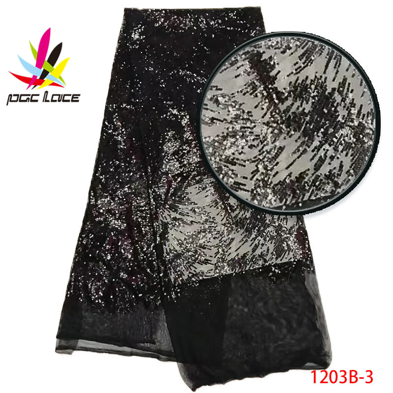 a295ed8eba4 Free shipping african tulle lace fabric fashion nigerian sequins lace fabric  cheap sequins lace fabric for wedding AMY1203B 2 Tags