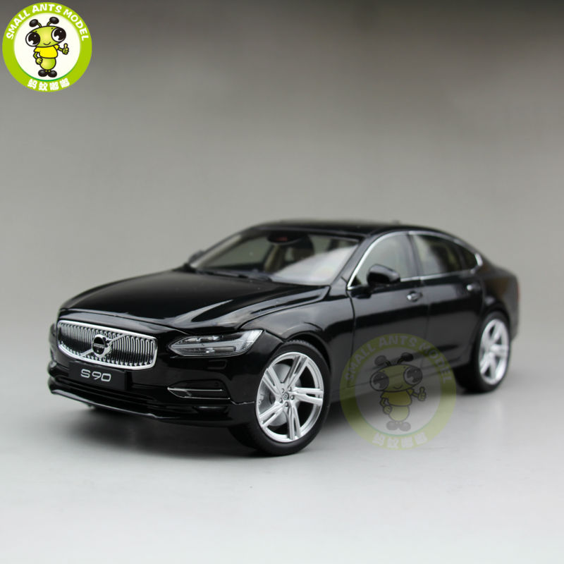 1 18 Volvo S90 T5 Diecast Model Car Toys Kids Boy Girl Gifts Collection Black Color