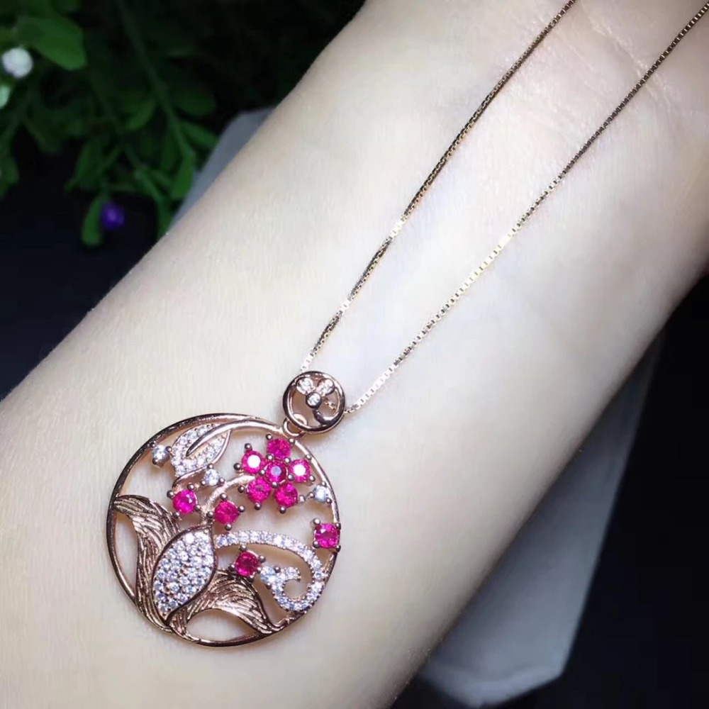 2017 Collier Qi Xuan_Red Stone Flower Pendant Necklaces_Real Red Stone Necklaces_Quality Guaranteed_Manufacturer Directly Sale 2017 rushed qi xuan red stone bangles