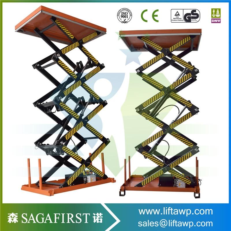 Orange Color 4 Scissor Lift Platform
