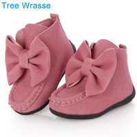 Spring Autumn Child Girl Toddler Motorcycle Boots Children S Single Boots Fashion Big Bow Girl Solid