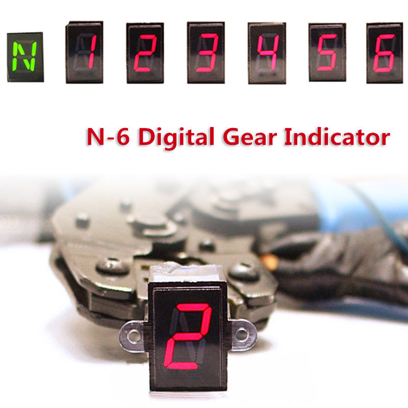 US $14 99 |Universal LED Motorcycle Gear Indicator N 6 Speed Shift Clutch  Lever Gauge Dossy waterproof-in Instruments from Automobiles & Motorcycles