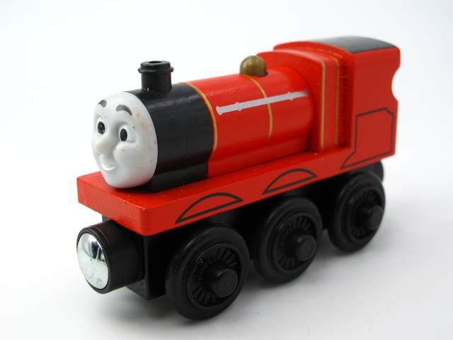 Wooden Thomas Train T077W JAMES And Friends Trackmaster Magnetic Tomas Truck Car Locomotive Engine Railway