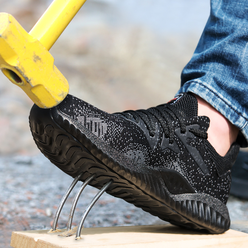 men casual big size steel toe shoes outdoor construction site worker safety shoe tooling security work boots protective footwear