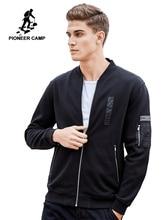 Pioneer Camp ฤดูใบไม้ร่วงฤดูหนาว Casual Zipper hoodies ชายเสื้อผ้าแฟชั่นหนาขนแกะเสื้อกันหนาวชายผ้าฝ้าย 100% 520032
