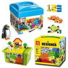 3 Sets 1710pcs DIY Creative designer Building brick Blocks Kids preschool maths educational Toy gifts