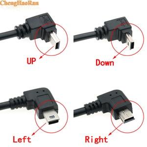 Image 1 - ChengHaoRan 1 adet USB A dişi Sol Açılı 90 Derece Mini USB Erkek OTG Ana Bilgisayar Kablosu için 14 cm araba