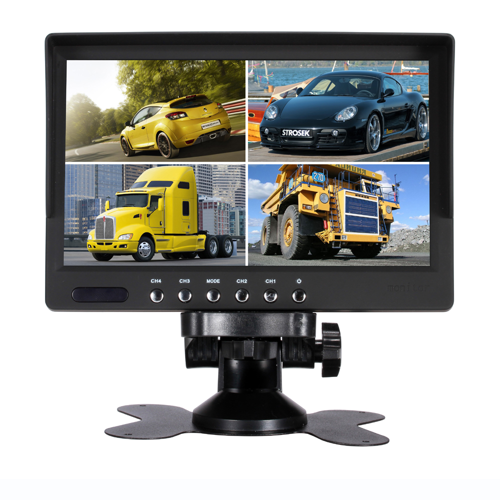 цены 7 Inch QUAD Display screen CCTV TFT-LED Monitor with Metal Shell & Watercover for PC & Multimedia & Donitor Display & Microscope
