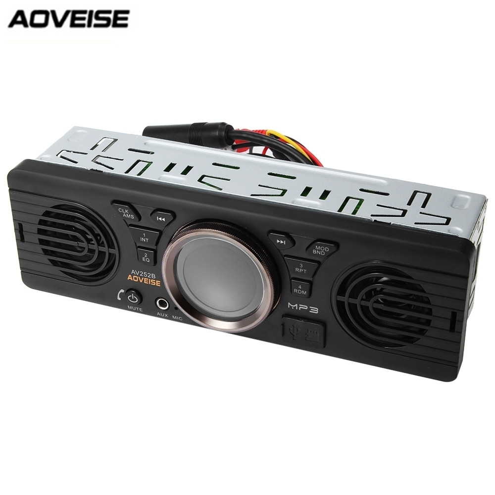 AV252B 12V Bluetooth 2.1 + EDR Vehicle Electronics In dash MP3 Audio Player Car Stereo FM Radio with USB/TF Card Port