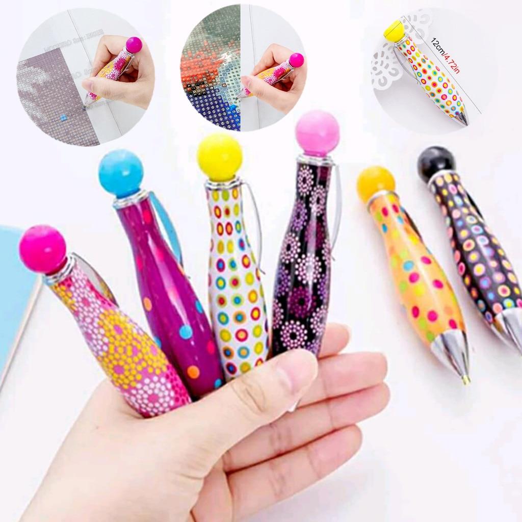 ABS Plastic DIY Magic Embroidery Pen Set Cute Needle Weaving Tool Fancy Diamond Painting Tools Sewing Accessories Jun20