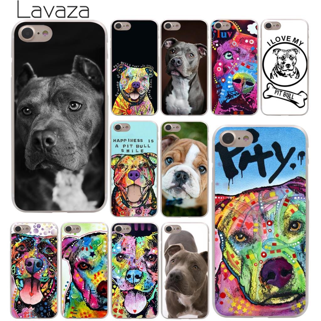 Lavaza Pitbull hund hårt telefonfodral för iPhone XR X XS 11 Pro Max 10 7 8 6 6S 5 5S SE 4 4S Skydd