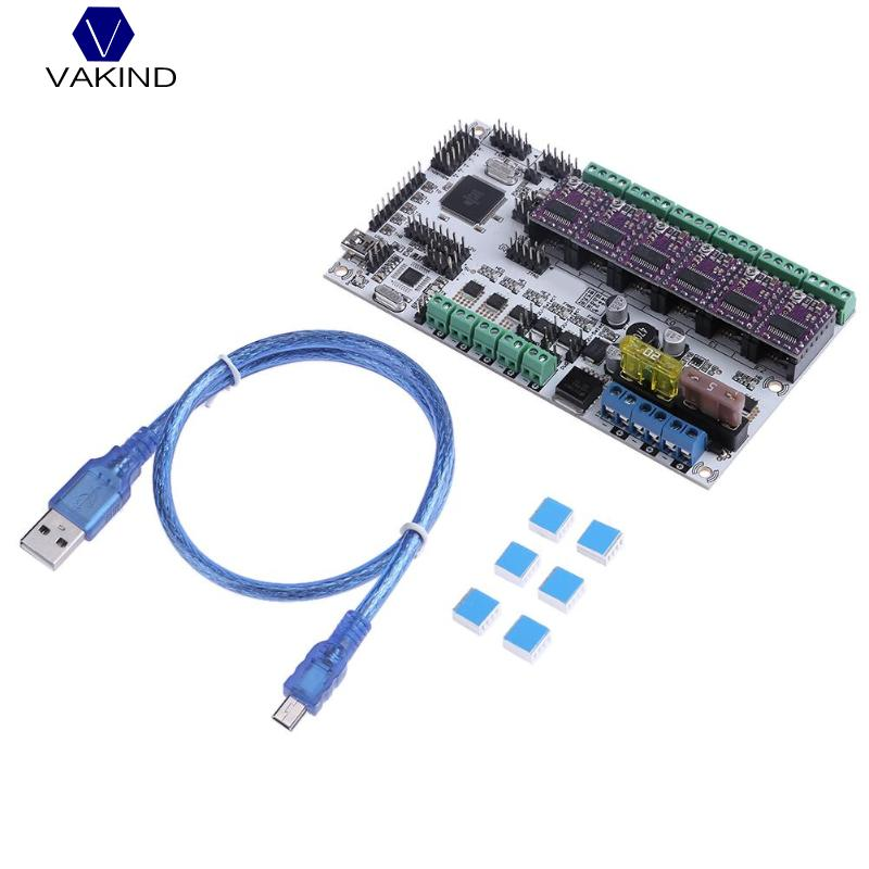 купить VAKIND Main Control Board Kit Rumba Plus Motherboard With 6pcs Drv8825 Stepping Driver & Data Cable For 3D Printer недорого