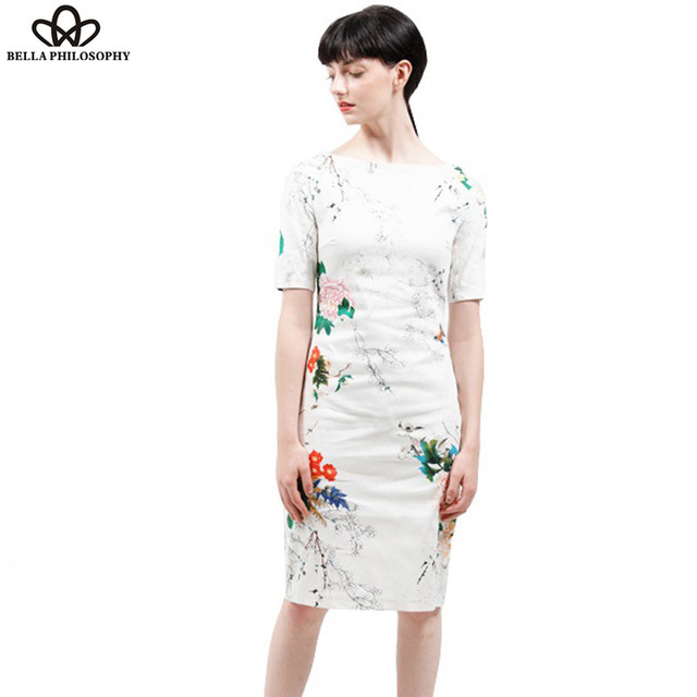 2016 vintage East Style women's peony birds and flowers floral printing Slim chipao mandarin gown cheongsam Dress real photo
