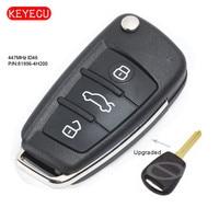 Keyecu Upgraded Folding Remote Key Fob 447MHz ID46 for Kia & Hyundai P/N: 81996 4H200