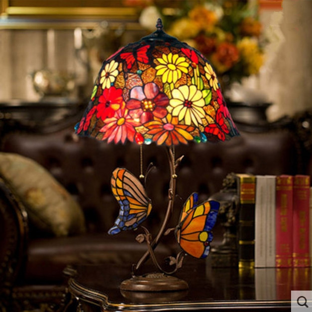 European Style Garden Warm Romantic Butterfly Living Room Retro