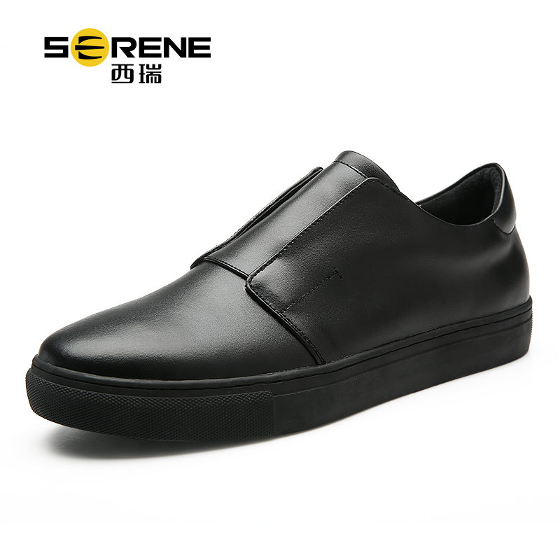 New Handmade Genuine Leather Men Flats Soft Leather Men casual Loafers Shoes Slip On lazy Shoes black white SERENE high end breathable men casual shoes loafers genuine leather lace up rubber handmade slip on sewing lazy shoes italian designer