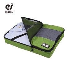 ecosusi Unisex Clothing Packing Travel Bags Garmen Storage Organizer Women Luggage Packing Cube To Travel Make Tidy Suitcase