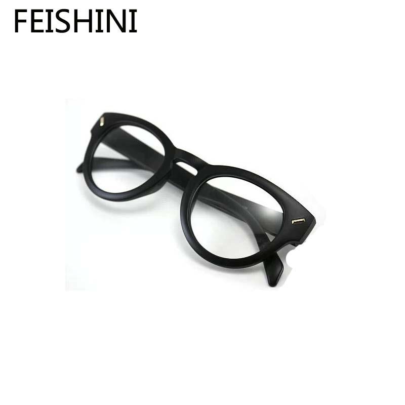 4afde62d00357 FEISHINI Clássico estilo euramerican moda óculos frames mulheres  vintageStar Cromo qualidade 2018 armações de óculos homens marca retro