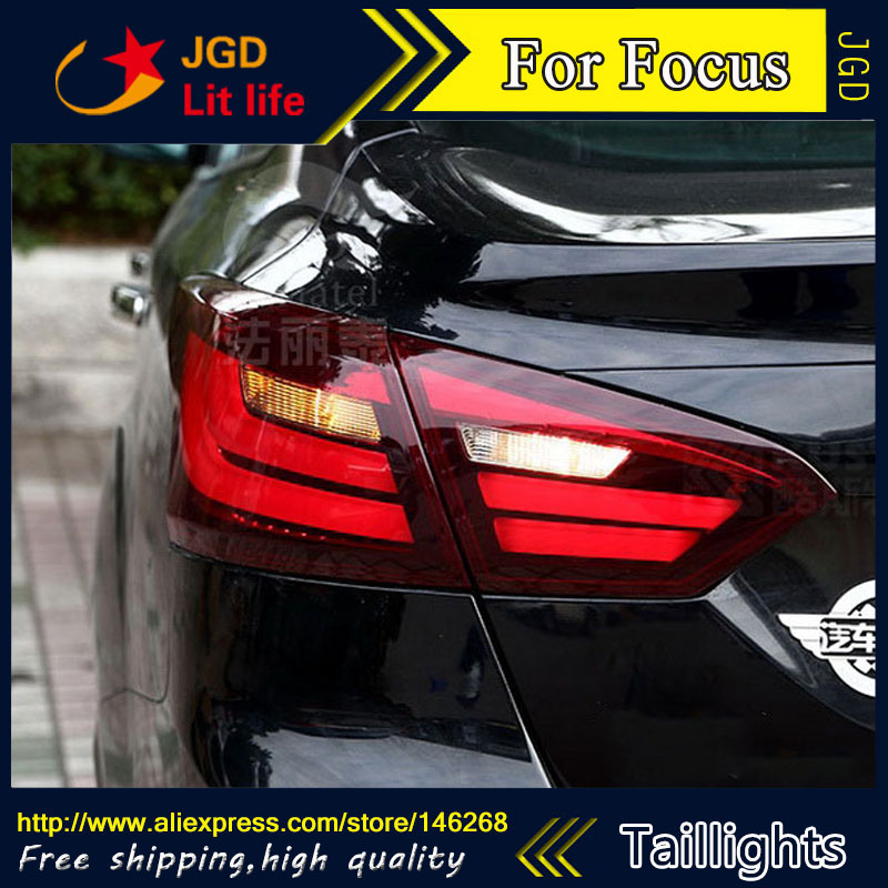 Car Styling tail lights for Ford Focus 2012 LED Tail Lamp rear trunk lamp cover drl+signal+brake+reverse car styling tail lights for toyota highlander 2012 led tail lamp rear trunk lamp cover drl signal brake reverse