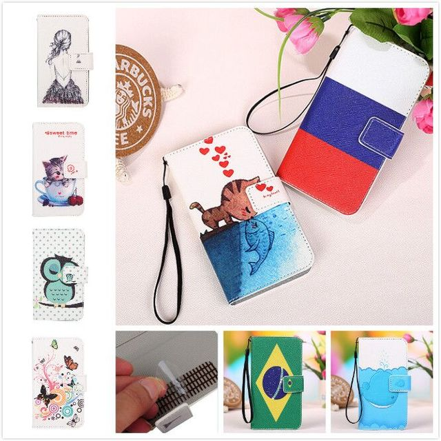 Fashion PU Wallet Leather Cover Cases For Philips i908 case+Lanyard gift