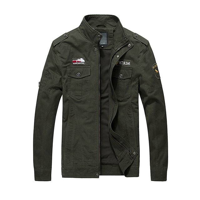 2848f94fba1 Large size 2016 new jaqueta masculina stand collar embroidery military  jacket men high quality mens Autumn bomber jacket coat