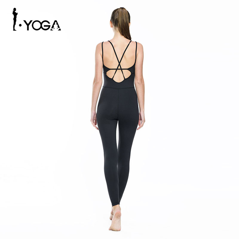 Fitness Women Sleeveless Sports Yoga Bodysuit Mesh Splice Sexy Elastic Gym Dance Tights Padded Workout Training Femme Clothes ...