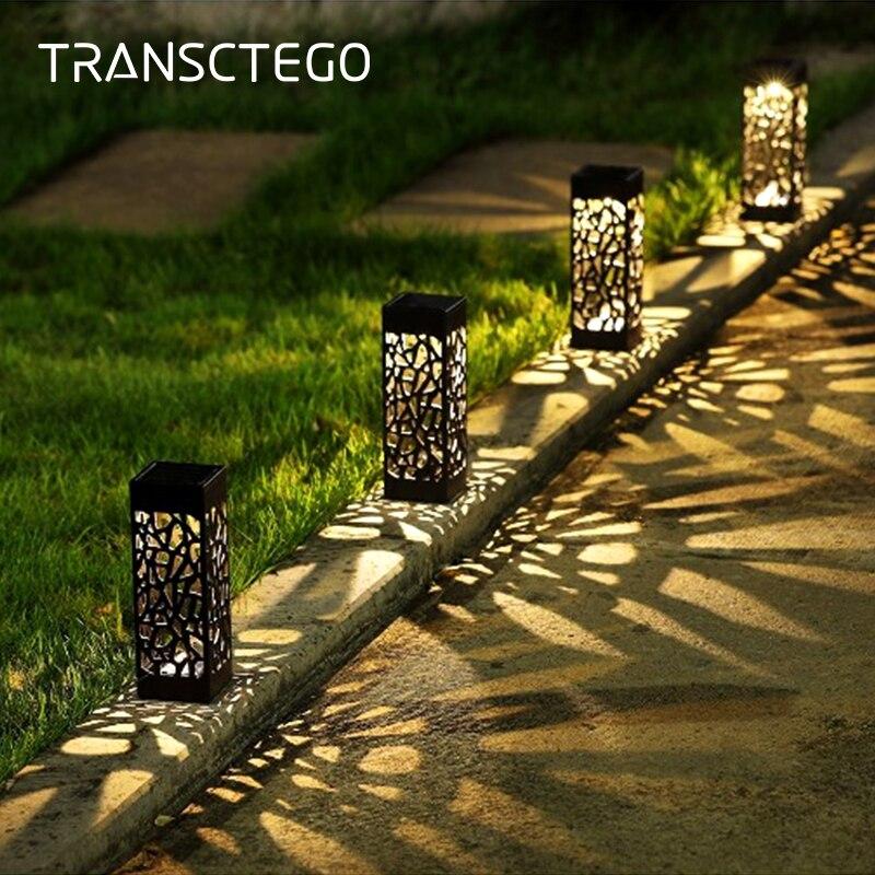 Ha condotto la Luce Solare Per La Decorazione del Giardino Lampada Esterna del Prato Inglese Casa Pathway Lampadina Sensore di Luce Impermeabile Della Lampada di Via Solare Luci Solari