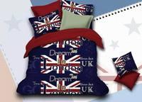 Dream in Lodon 3d Bedding set Fashion New York Duvet Cover Set Bed Sheet Bedding Flag Bedlinen Union Jack Stars and Stripes