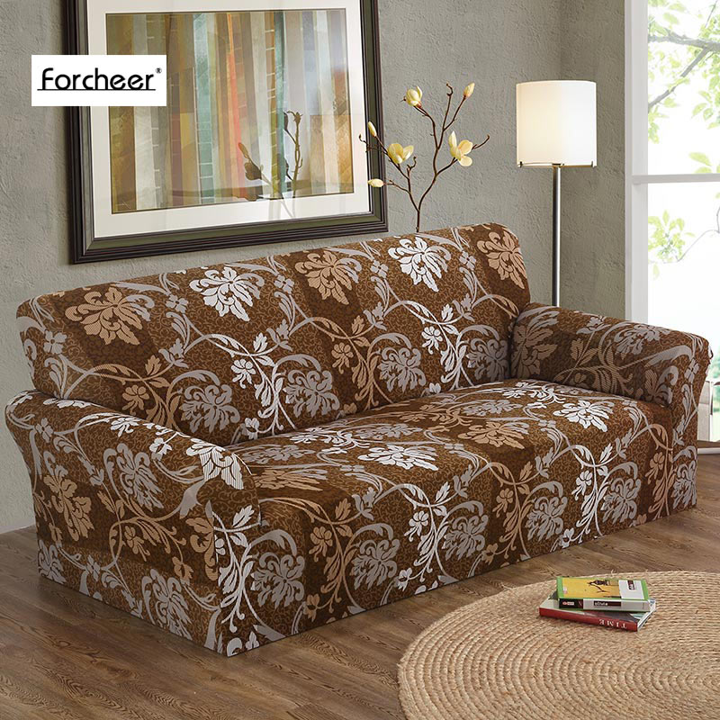 1PC Elastic Cubierta Sofa 1 2 3 4 Seat Sofa Cover Floral Printing Flower Pattern Stretch