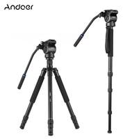 Andoer A 618 180cm Camera Tripod Video Monopod w/ Damping Head Low Angle Macro Panoramic Photography for DSLR Camara