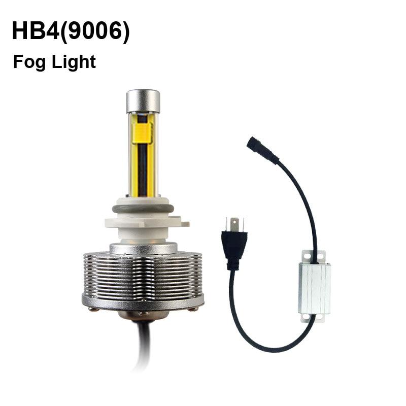 ФОТО HB4(9006)  LED Fog Lamps Automotive LED 9006 Cars Bulbs LED External Lights Golden Light High Power 20W DC 12 Voltage