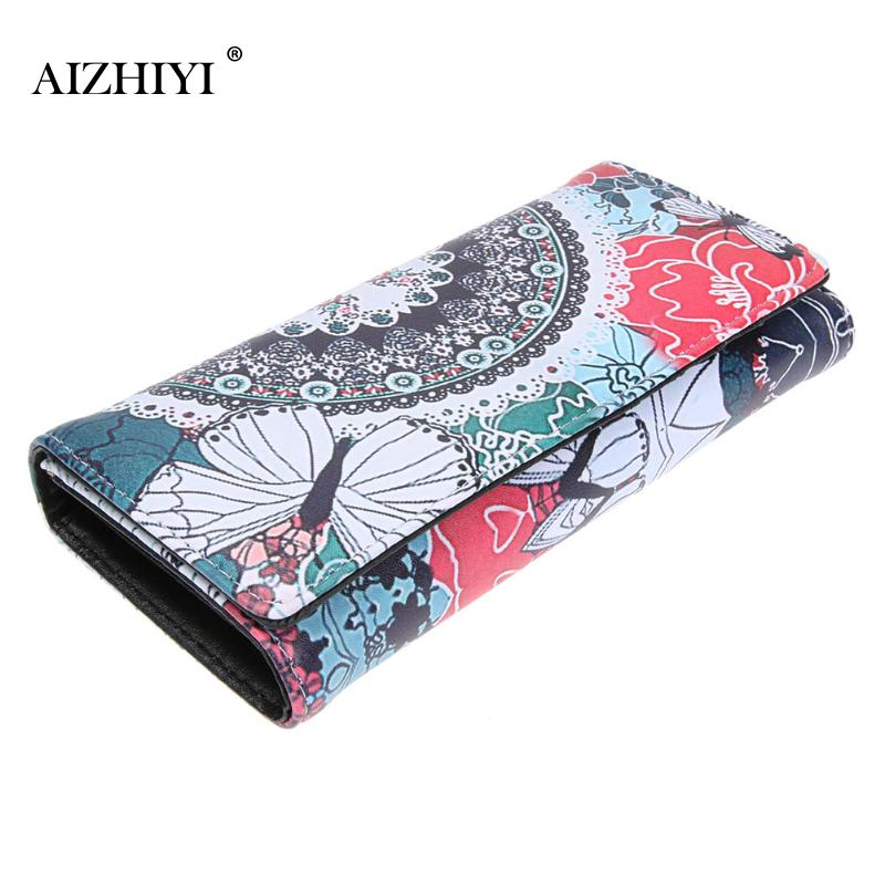 Fashion Graffiti Printed PU Long Wallet Clutch For Women Hot  Korean Students Phone Card Holder Purse Womens Pocket 5 Style