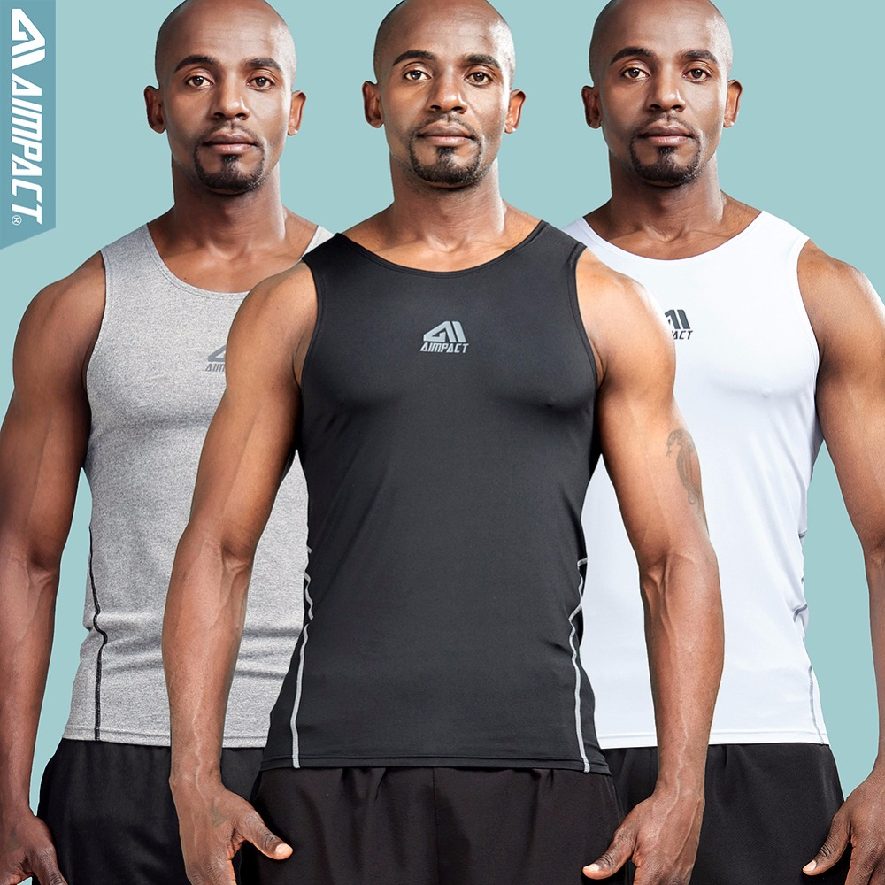 991a7891 Aimpact Mens 3 pack Tank Top Muscle Sleeveless Compression Shirt Gymi  Stringer Bodybuilding Workout Base Layer Sporty Tank Male