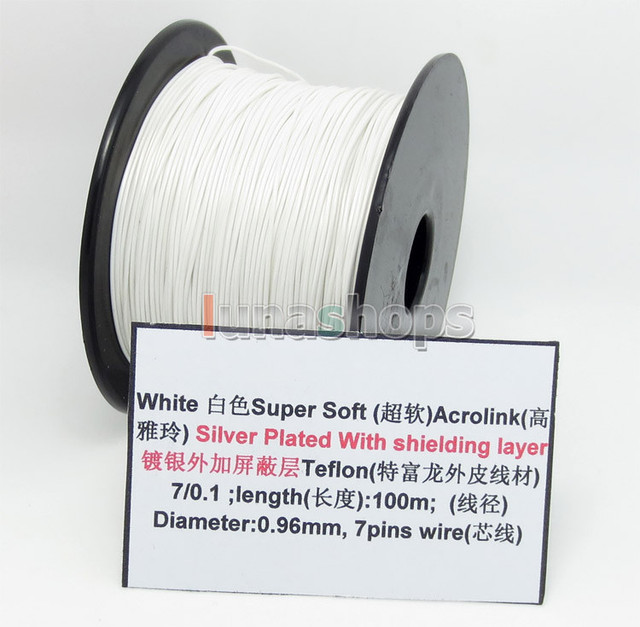Aliexpress.com : Buy White 100m 32AWG Acrolink Silver Plated With ...