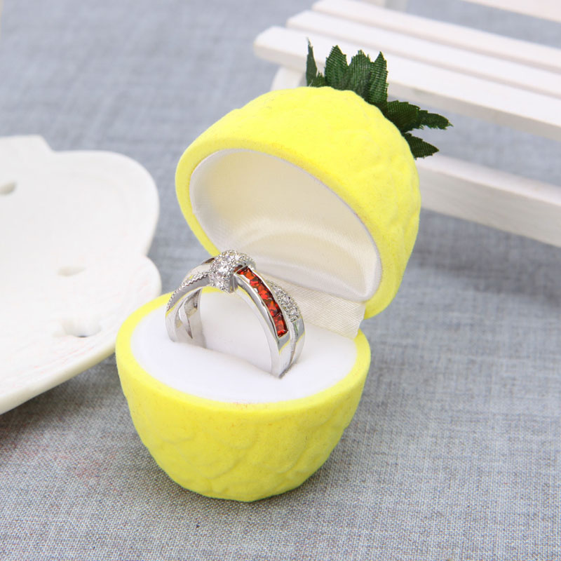 Ring Earring Ear Stud Pineapple Storage Box Jewellery Case Holder Container New