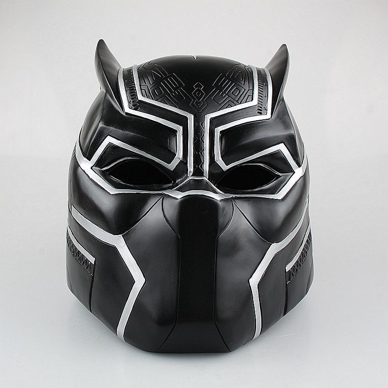 Captain America Civil War 1/1 scale painted figure Hallowmas Cosplay Black Panther Helmet PVC ActionFigure Collectible Model Toy