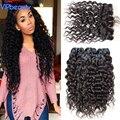 Rosa Produtos de cabelo onda de água do cabelo virgem Brasileiro lace frontal encerramento com bundles wet e ondulado virgin Brazilian cabelo weave