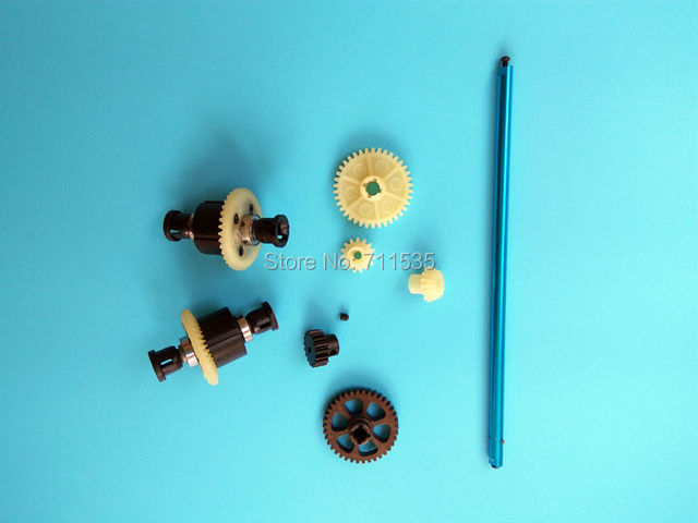 Upgrade Metal Reduction Gear Motor Gear Transmission Shaft Differential Spare Parts For Wltoys A949 A959 A969 A979 K929 RC Car