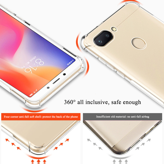 Airbag Phone Case For Xiaomi Redmi 7 Note 7 6 5 Pro 6 6A 5 Plus Mi8 9 SE 6 Mi A1 A2 Lite 6X Pocophone F1 Shockproof Coque Capa 2