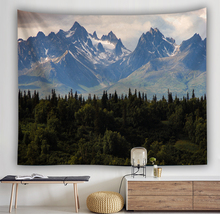 nature scenery tapestry Wall Hanging home decor curtain spread covers cloth blanket art tapestry Beach Towel mountains lakes